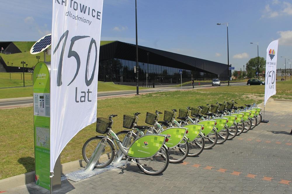 12 kolejnych stacji w największej sieci rowerów miejskich w woj. śląskim