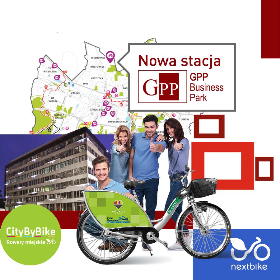 """Jeszcze więcej rowerów miejskich w Katowicach! Rusza stacja sponsorska """"GPP Business Park"""""""