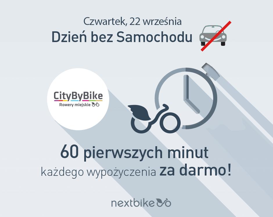 """Rowerowy """"Dzień bez samochodu"""" w Katowicach: Pierwsza godzina wypożyczenia """"City by bike"""" za darmo, prezentacja rowerów dziecięcych i familijnych"""