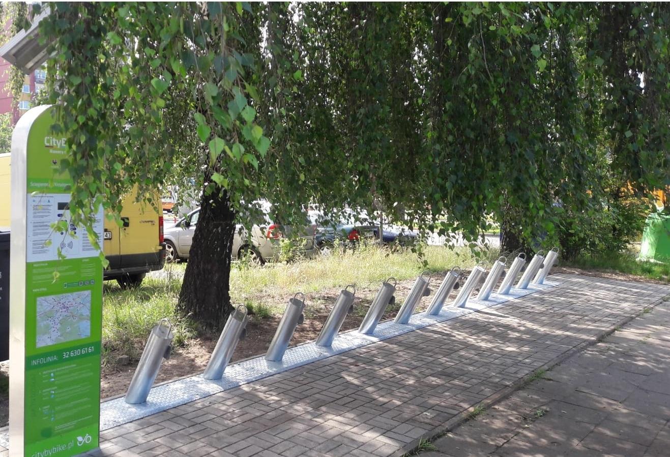 7 nowych stacji rowerowych w Katowicach