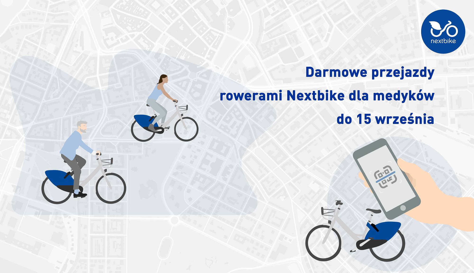 Darmowe przejazdy rowerami Nextbike dla medyków do połowy września!